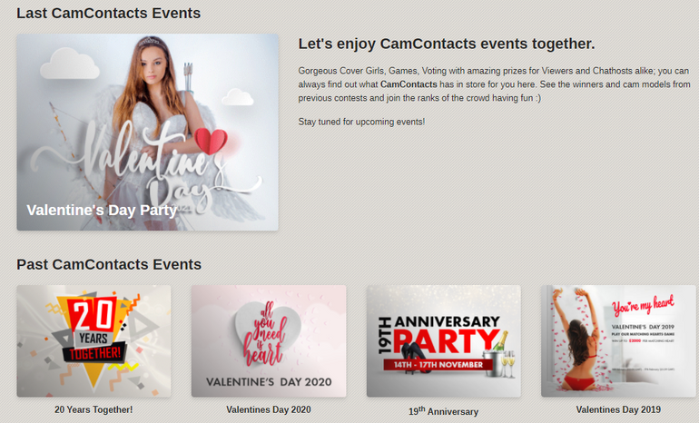 camcontacts  Special Events