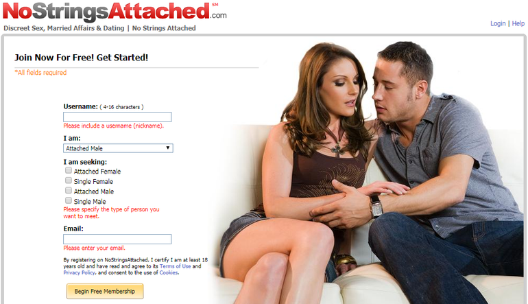 NoStringsAttached adult dating
