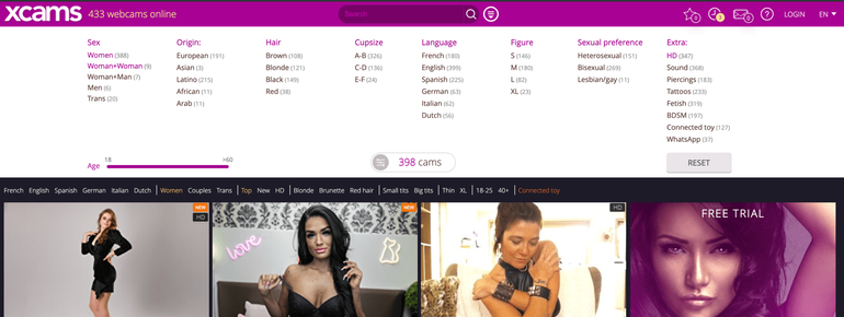 Xcams search