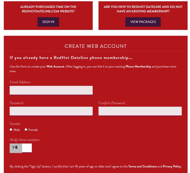 Redhot sex chatline Registration