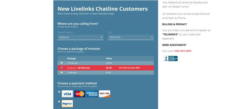 Livelinks Pricing
