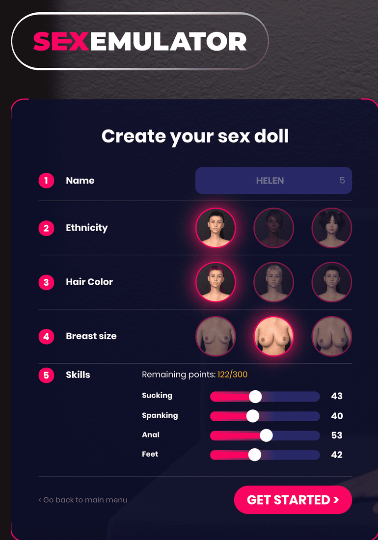 SexEmulator website