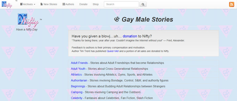 Nifty gay stories site