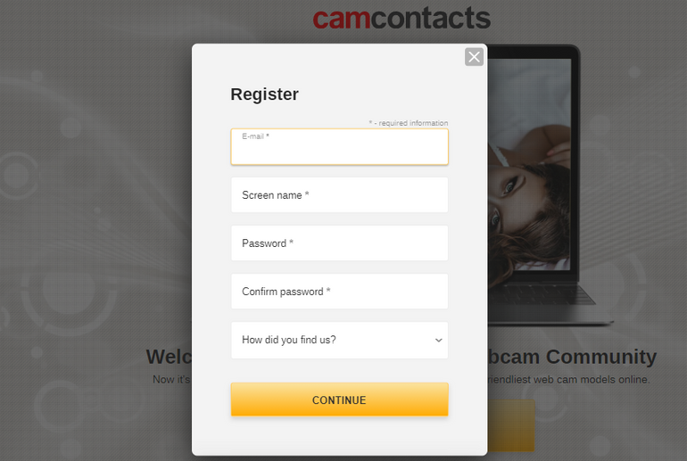camcontacts Register