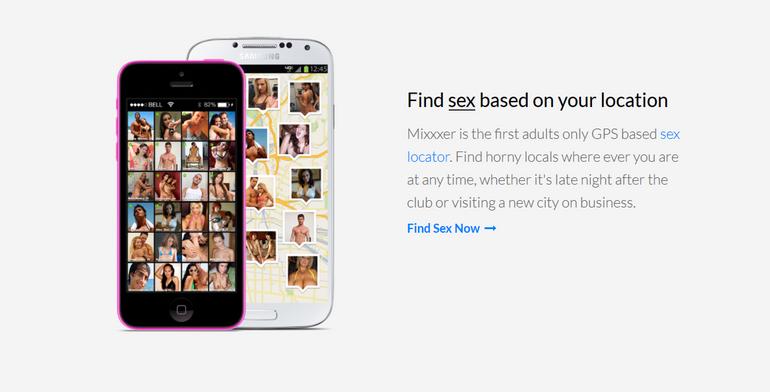 mixxxer GPS based sex locator