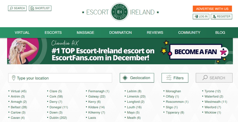 Escort-Ireland site