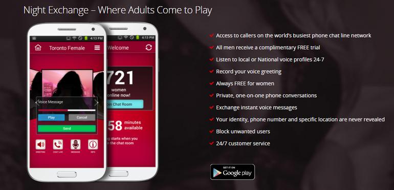 Night Exchange Mobile app