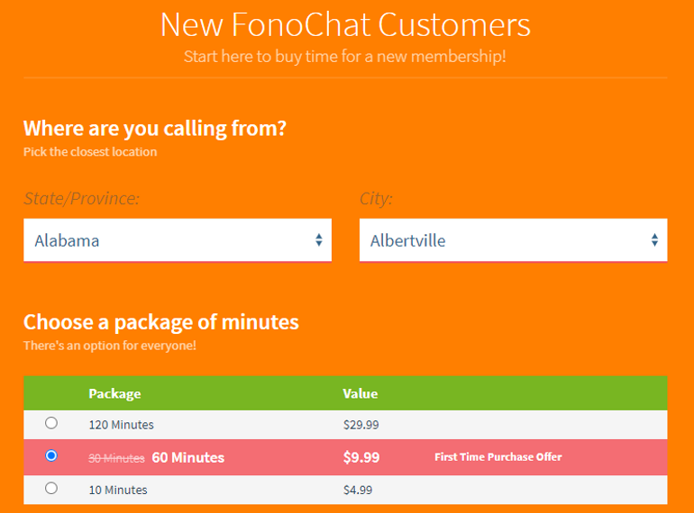 Fono Chat pricing