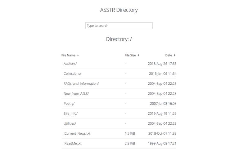 asstr directory