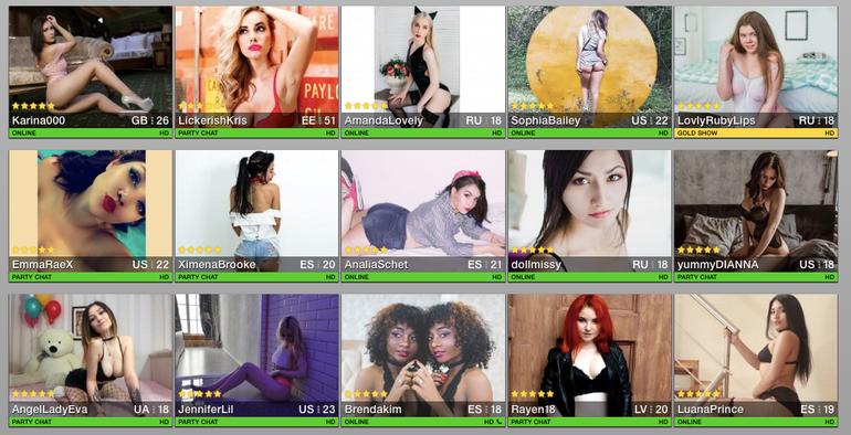 Slutroulette profiles