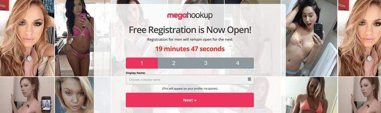MegaHookup Registration