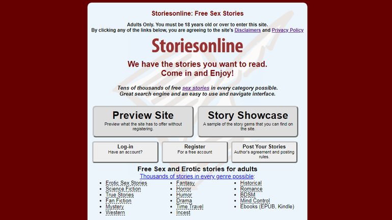 Storiesonline site