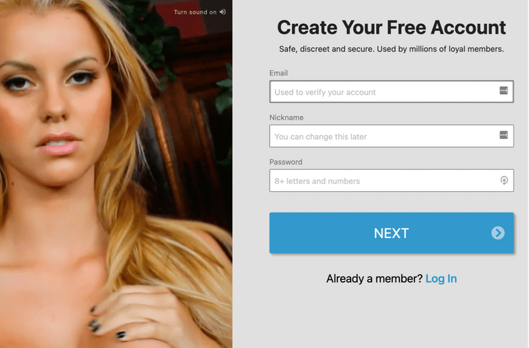 Streamate registration