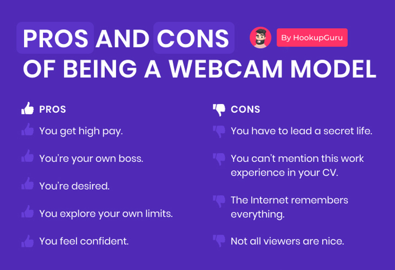 webcam model pros and cons