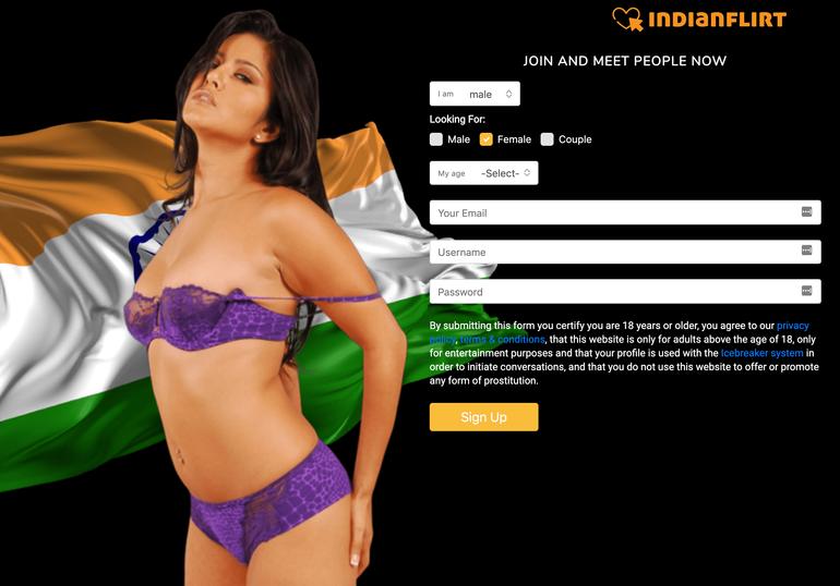 IndianFlirt hookup site