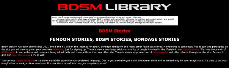 BDSM Liabrary website