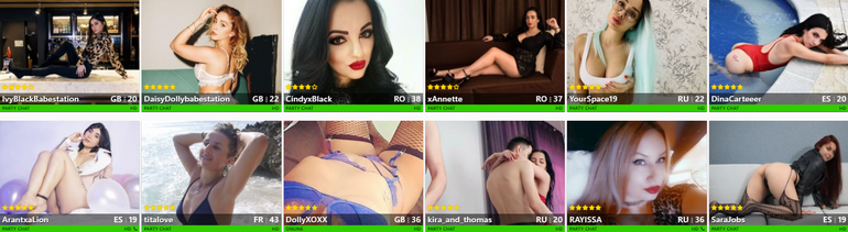 camcrush Gold shows