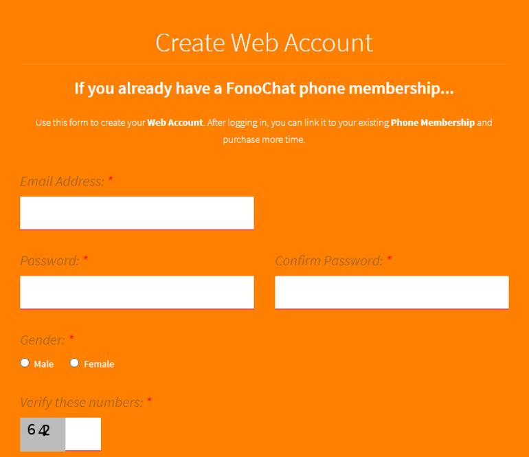 Fonochat registration